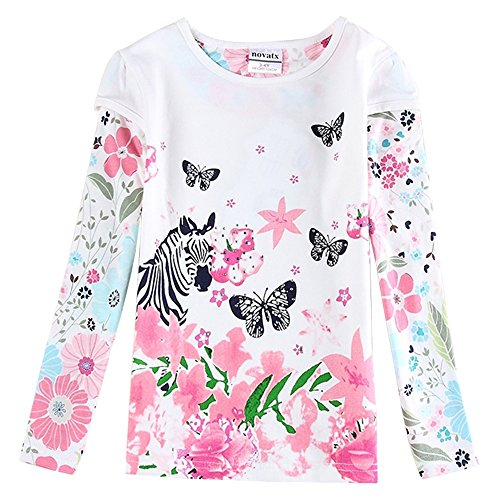 2016-NOVA-Kids-Girls-Cotton-Lace-Long-Sleeve-T-Shirt-Clothes-F5187-2-6-Years
