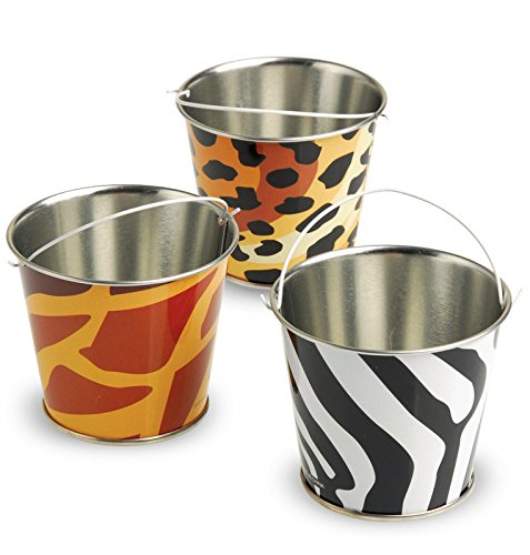 US Toy 236517 8.25quot; Mini Safari Buckets with Handles - 1