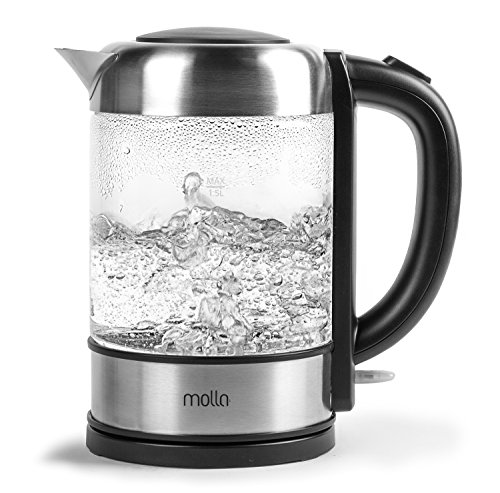 molla p ro cordless glass electric water kettle. Black Bedroom Furniture Sets. Home Design Ideas