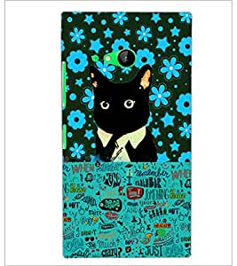 PrintDhaba Typography D-2553 Back Case Cover for NOKIA LUMIA 730 (Multi-Coloured)