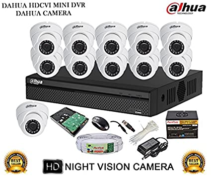 Dahua-DH-HCVR4116HS-S2-16CH-Dvr,-11(DH-HAC-HDW1000RP-360B)-Dome-Camera-(With-Accessories,2TB-HDD)
