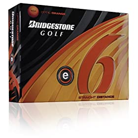 Bridgestone E6 Optic Orange Golf Ball (2011 Model)