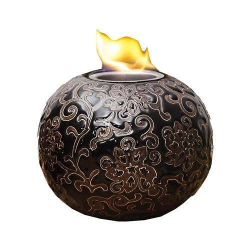 Evergreen-2LA428-Elegance-Firepot-Embossed-Ceramic-7-x-7-x-5-12-In