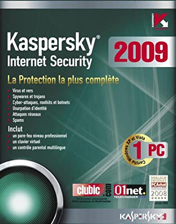Kaspersky Internet Security 2009 (1 Poste / 1 An)