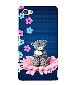 GREY TEDDY BEAR ON A FLORAL SEAT 3D Hard Polycarbonate Designer Back Case Cover for Sony Xperia Z5 Compact :: Sony Xperia Z5 Mini