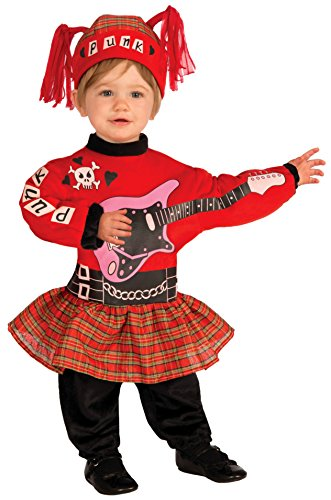 Forum Novelties Baby Boy's Lil' Rock Star Punk Baby Girl Costume