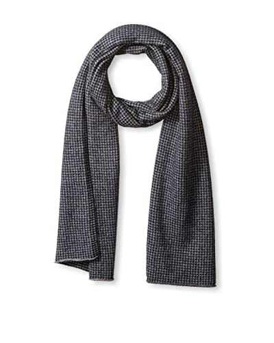 Thirty Five Kent Men's Cashmere Houndstooth Scarf, Blue