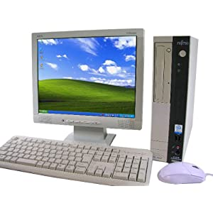 中古パソコン 富士通デスクトップPC 【機種問わず】&液晶15インチ 【メーカー問わず】 ◆動作正常品◆ 新品キーボード・マウス付 Windows XP Professional搭載!
