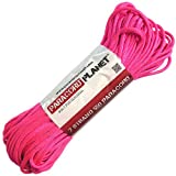 Paracord Planet® USA Made 550 Type III Paracord, 100 Feet - Now Selling Over 200 Parachute Cord Colors! (Neon Pink)