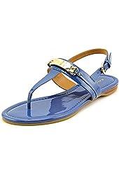 Coach Caterine Denim Patent Leather Sandal - Size 6.5