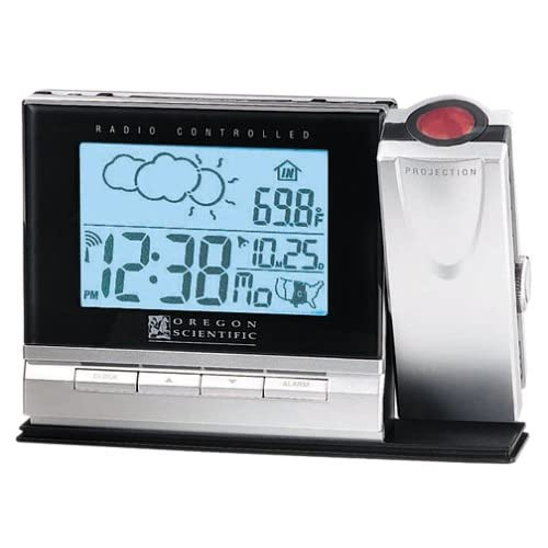 Oregon Scientific BAR338PA ExactSet Projection Clock with Cable-Free Weather Forecaster by Oregon Scientific