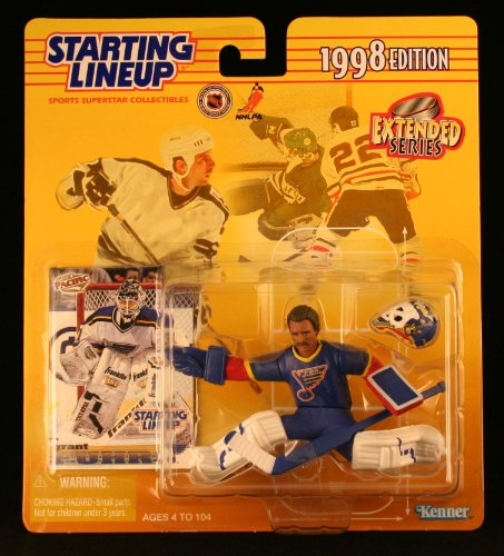 GRANT FUHR / ST. LOUIS BLUES 1998 NHL Starting Lineup Action Figure & Exclusive Collector Trading Card