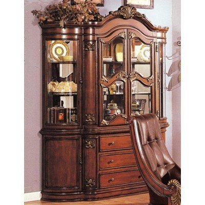 Artemis Cherry Antiqued Gold Dining Room Hutch Buffet