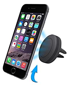 car mount Saleusa, Magnetic car phone air vent mount holder for iPhone6, 6plus, 5, 5s and all other smart phones