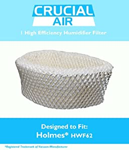 1 Holmes HWF62 Humidifier Filter; Fits Holmes Models HM1701, HM1761, HM1300 & HM1100; Compare to Part # HWF62, HWF62D, HWF-62; Designed & Engineered by Crucial Air