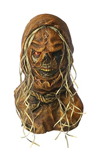 [Fearscape Studios NeCrow Creeper Scarecrow Scary Adult Halloween Latex Mask FS011] (Scary Scarecrow)