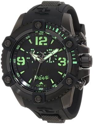 Invicta Men's 11176 Arsenal Chronograph Black Dial Black Polyurethane Watch