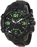 Invicta Men's 11176 Arsenal Chronograph Black Dial Black Polyurethane Watch