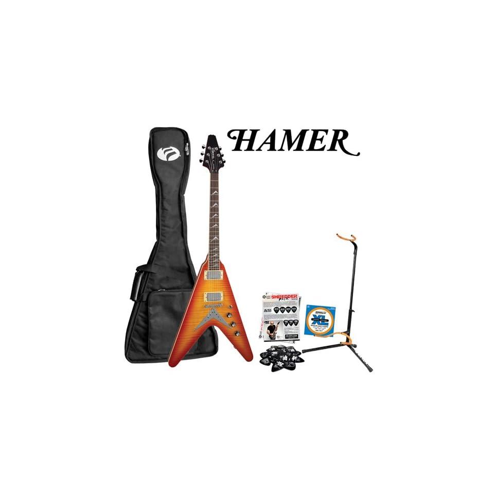 Hamer VECF HB Honey Burst Electric Guitar with GO DPS/Planet Waves