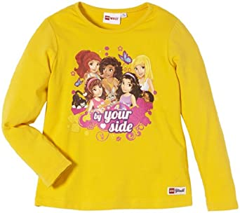 LEGO Wear Sweatshirt   Col ras du cou Manches longues Fille - Jaune - Gelb (229 YELLOW) - FR : 4 ans (Taille fabricant : 104)