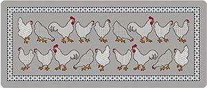 Akzente wolf 92089 tapis de cuisine avec motif poules for Tapis de cuisine motif poule