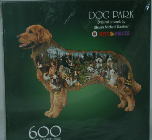 Dog Park 600 Piece Shaped Puzzlle