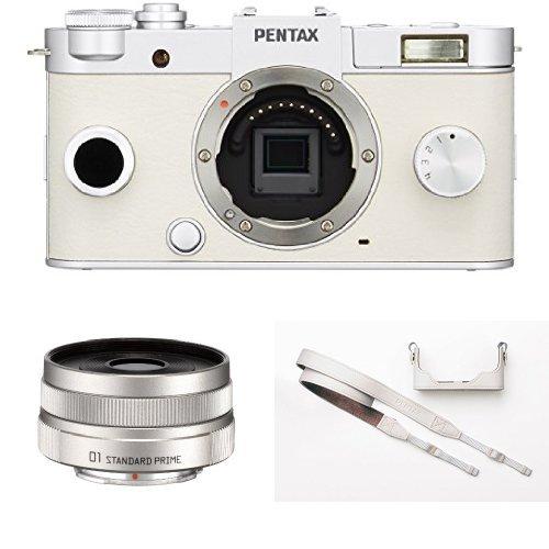 PENTAX ミラーレス一眼 Q-S1 ボディ ピュアホワイト + 標準単焦...