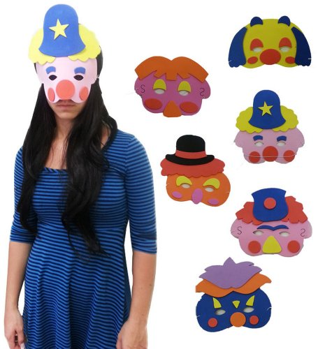 Foam Clown Masks - Collection Of Assorted Character Foam Clown Masks