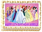 Personalised Disney Princess Edible Birthday Icing Cake Topper A4 Full (8
