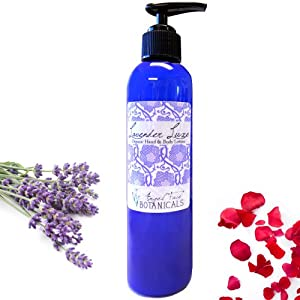Lavender Luxe Lotion - Organic Aromatherapy Moisturizer for Hand & Body 8 oz by Angel Face Botanicals
