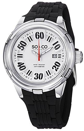 So&Co New York Men'S 5005.2 Soho Quartz Date Rubber Watch