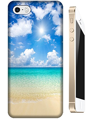 Cell Phone Case Beach Design Beautiful Sunshine Water Trees For Iphone 5/5S No.10 front-28168