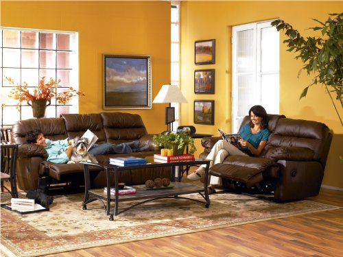 Picture of AtHomeMart Brown Reclining Sofa and Loveseat Set (ASLY2610388_2610386_2PC) (Sofas & Loveseats)