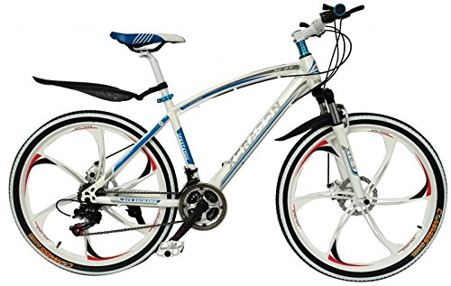 2Fast4You Xeragon - 26' Zoll Hardtail Mountainbike mit MAG Wheels , Farben:weiß-blau
