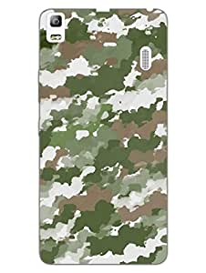 Camouflage - Indian Army - Water Color Pattern - Hard Back Case Cover for Lenovo K3 Note - Superior Matte Finish - HD Printed Cases and Covers