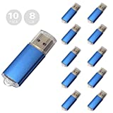 10pcs 8gb Usb Flash Drive Usb 2.0 Flash Drive Memory Stick Blue