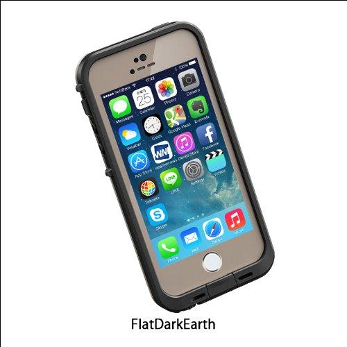 日本正規代理店品・保証付LIFEPROOF 防水防塵耐衝撃ケース fre iPhone5/5s Flat Dark Earth フラットダークアース 2101-10