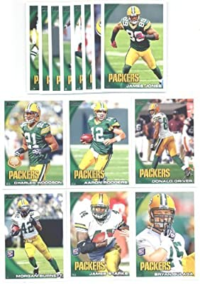 2010 Topps Green Bay Packers Complete Team Set (15 Cards)