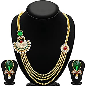 Sukkhi Exquitely Four Strings Gold Plated Necklace Set