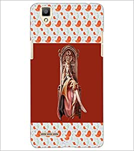 PrintDhaba Dragon Princess D-3085 Back Case Cover for OPPO F1 (Multi-Coloured)