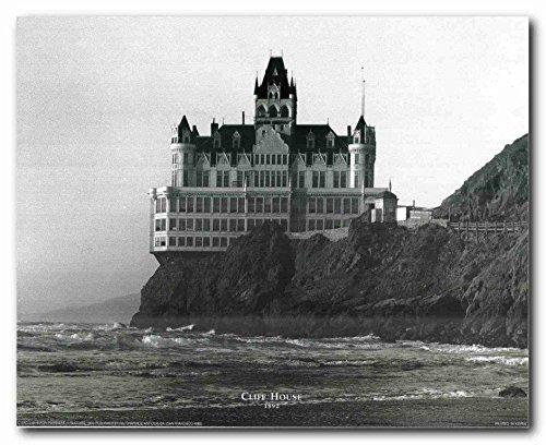 Vintage Cliff House San Francisco Ocean Wall Decor Art Print Poster (16x20) (Cliff House Poster compare prices)