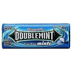 Wrigley's Doublemint Sugarfree Gum -Peppermint, 23.8g Jar