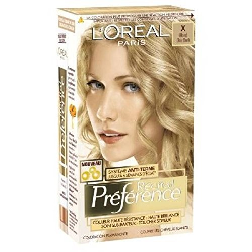 loreal recital preference coloration x champagne blond clair dor - Coloration Blond Dor