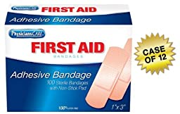 PhysiciansCare First Aid Plastic Bandages, Box of 100, 1\