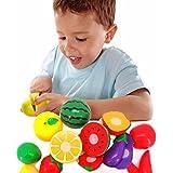 Franterd Children Kid Cutting Fruit Vegetable Pretend Play Educational Toy 1 Set