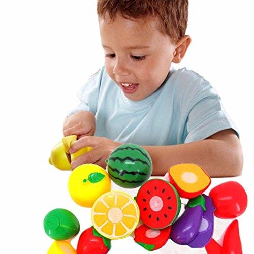Franterd, Children Kid Cutting Fruit Vegetable Pretend Play Educational Toy 1 Set