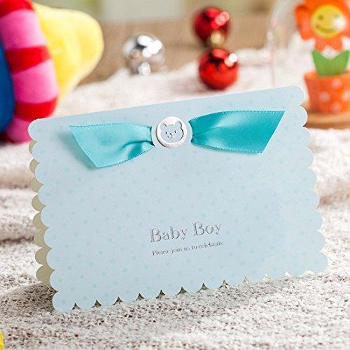 Christening VStoy giorni per festeggiare i biglietti di invito per feste, motivo: Hello Kitty-Inviti per Baby Shower con stilo, colore: rosa Baby-Busta con 20 pezzi