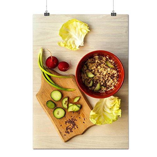 Frais Légume Salade Délicieux Matte/Glacé Affiche A0 (119cm x 84cm) | Wellcoda