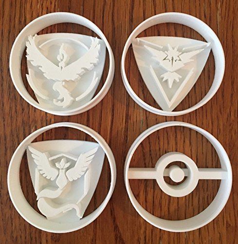 Pokemon Go Teams four piece set cookie and fondant cutters - US SELLER!! (Fire Red Gameboy Advanced compare prices)