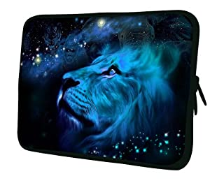 15 inch Gorgeous Blue Lion Gorilla Tiger Wildlife Constellation Design Laptop Netbook Notebook Carrying Case Slipcase Cover Sleeve Bag for MacBook Pro, MacBook Air, Samsung Series 9, Apple, Acer, Asus, Dell, HP, Sony, Toshiba